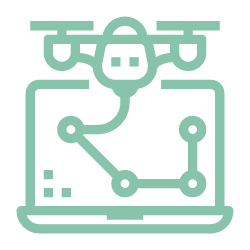 icon of drone data